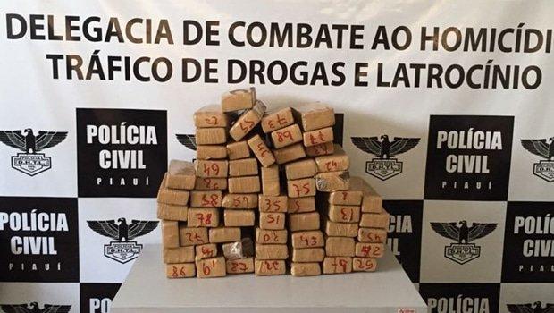 tráfico no litoral mulher parnaíba droga ônibus