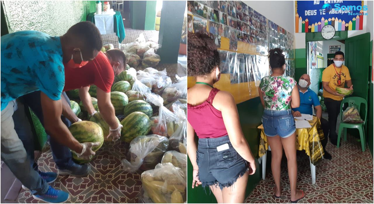 IFPI doa alimentos da Agricultura Familiar a alunos do Campus de Angical